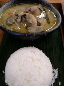 Green Curry Chicken set $10.90